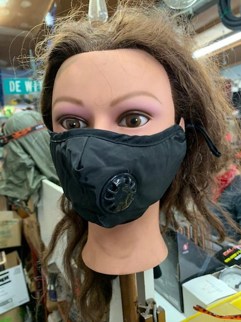 Triple Layer Cloth Mask w/ valve & charcoal filters