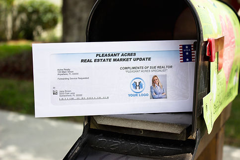 Real Authority real estate market update in a mailbox