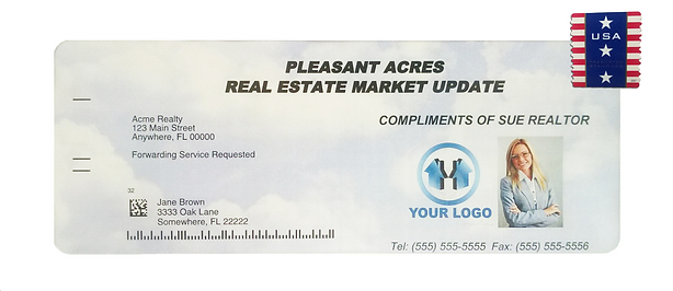 Real Authority real estate market update in an envelope
