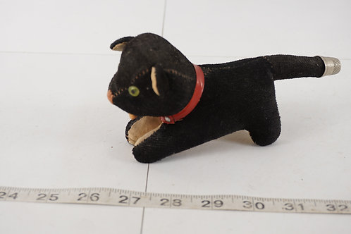 Sewing Cat Pincushion Thimble And Tape Measure - Made In Jap