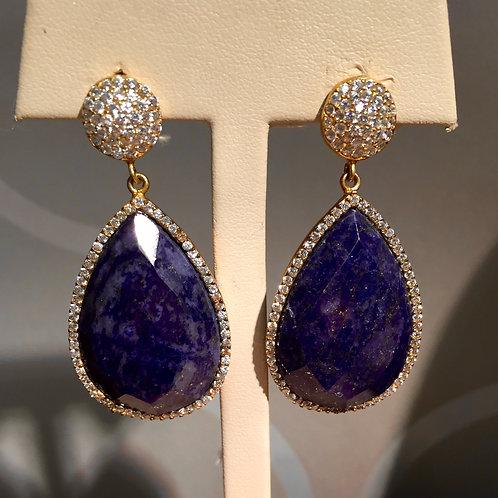 Lapis Chandelier Earrings