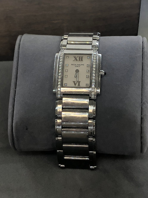 Patek Phillipe StainlessTwenty-Four Watch Diamond and