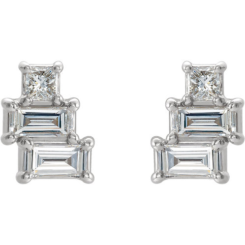Geometric Diamond Studs 1/4 ct.