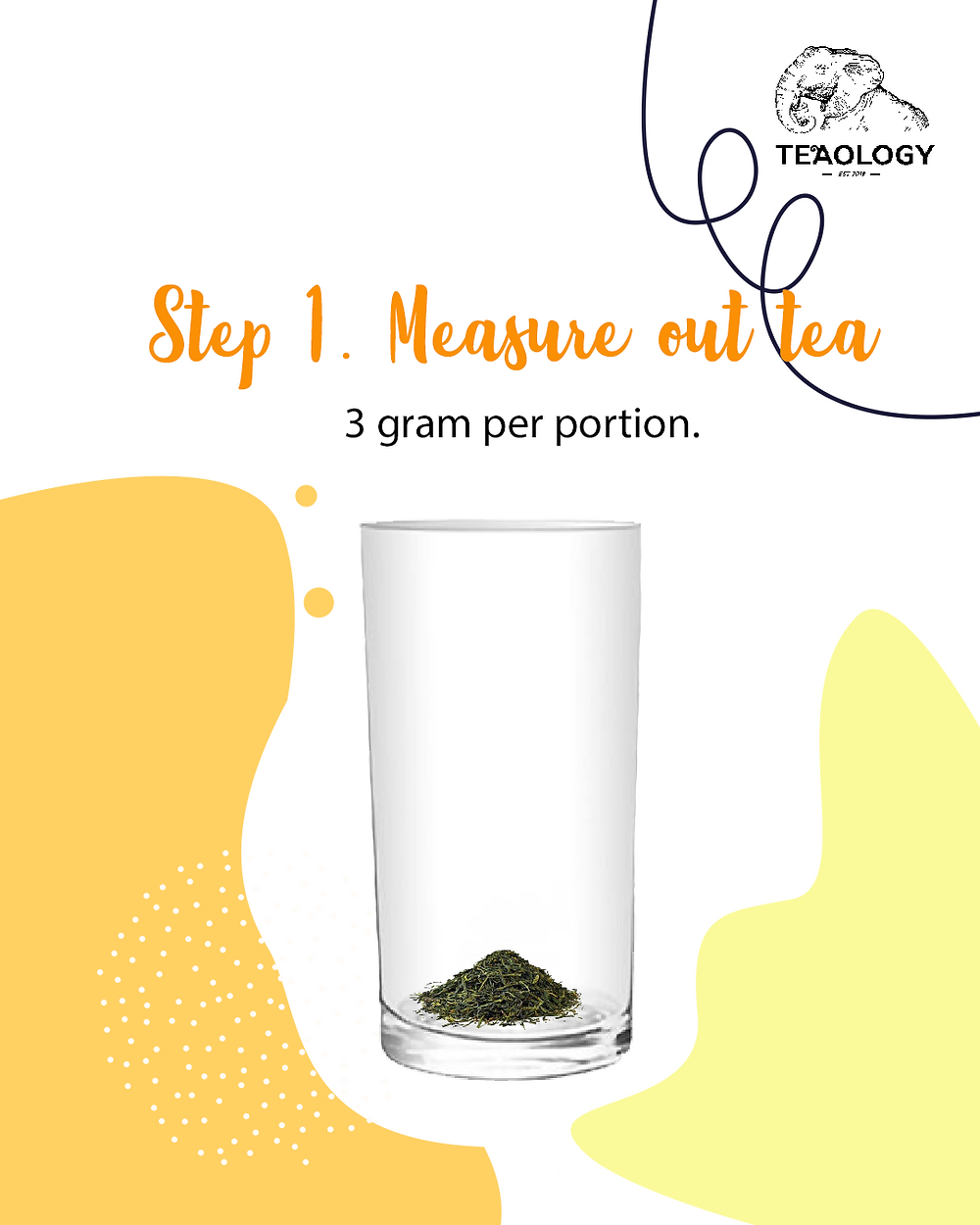 TeaOlogy - Step 1 to make mango boba at home to measure tea leaves