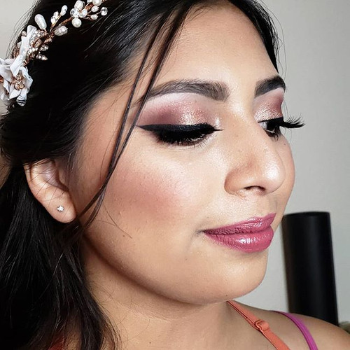 Makeup on @giselle_yess for her big day.