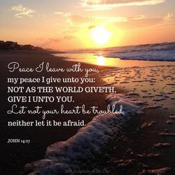John 14.27 Peace I leave with you