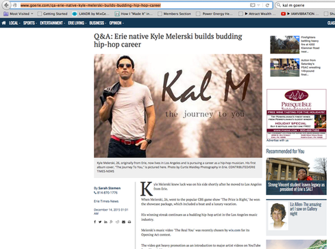 Kal M Gets Article On Goerie.com and Erie Times News
