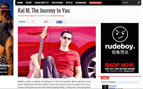 Kal M Exclusive-Rude Boy Magazine