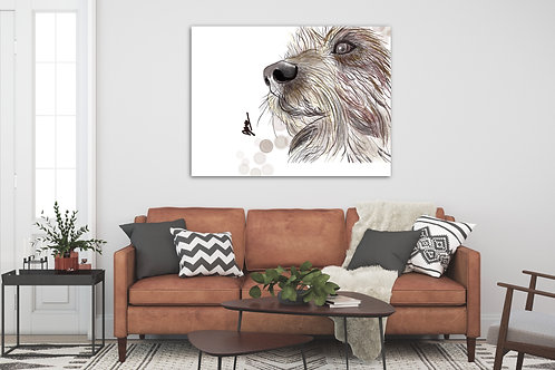 CUSTOM PET PORTRAIT - FINE ART CANVAS - 40MM DEPTH