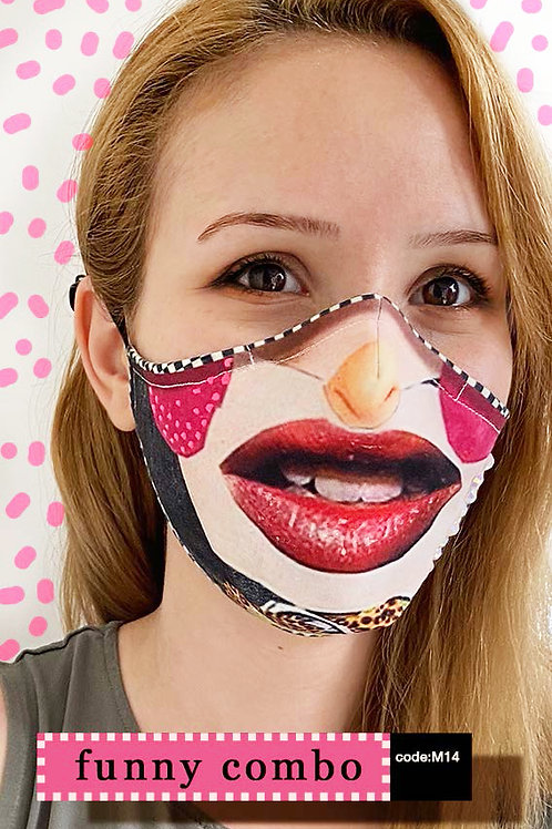 Mask with Print - Funny Combo