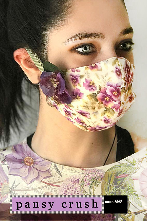 Mask with Accessories - Pansy Crush