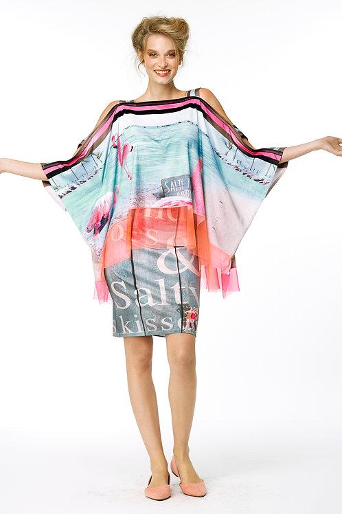 Skirt Mini - Salty Kisses Sandy Toes Text