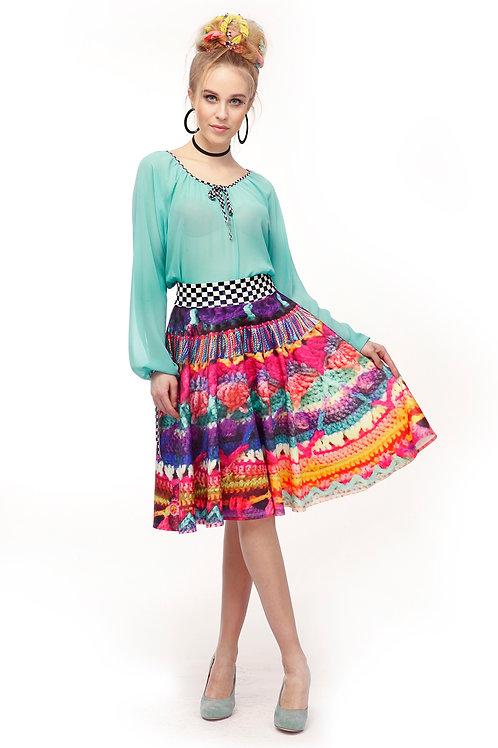 Blouse Shiffon Long Sleeve - Bright Colors