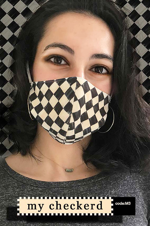 Mask with Print - My Checkerd