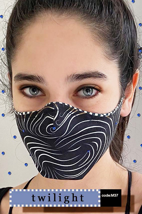 Mask with Print - Twilight