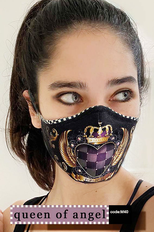 Mask with Print - Queen of Angel