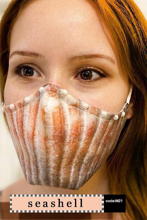 Mask with Print - Sea Shell