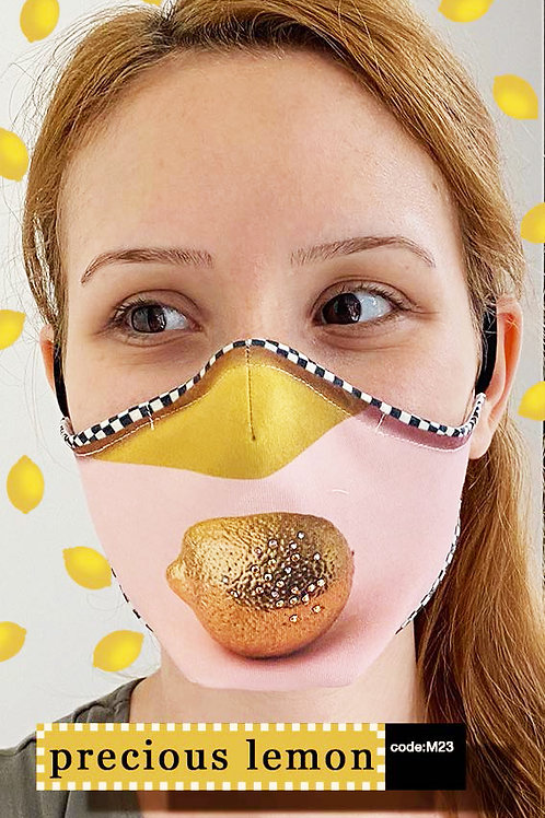 Mask with Print - Precious Lemon
