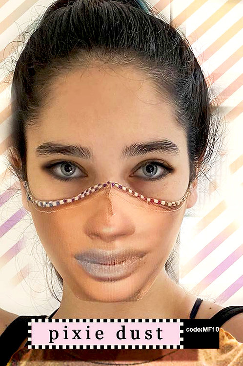 Mask with Face Print - Pixie Dust