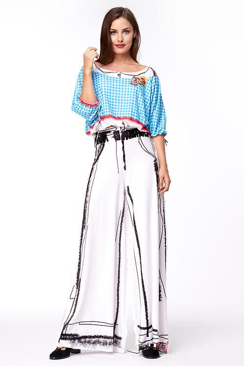 Blouse - T-Mini No Wear Multi Blue