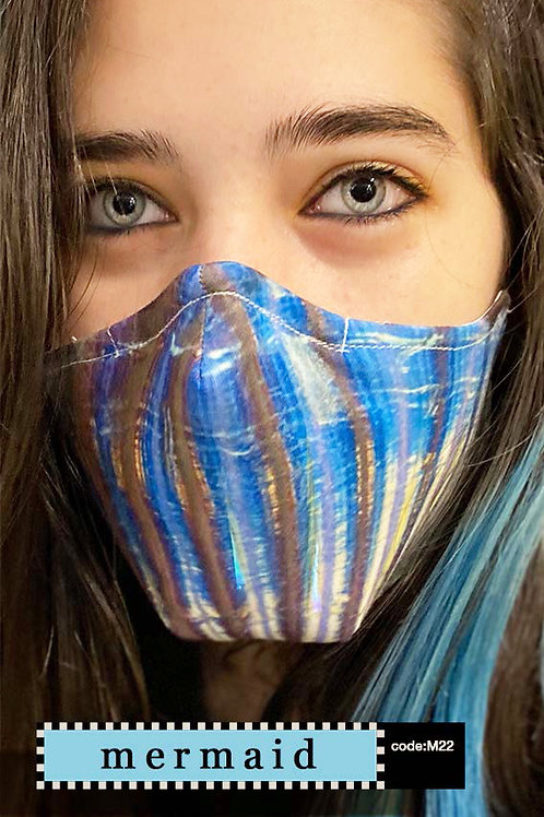 Mask with Print - Mermaid