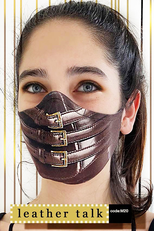 Mask with Print - Leather Talk