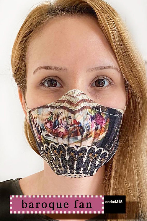 Mask with Print - Baroque Fan