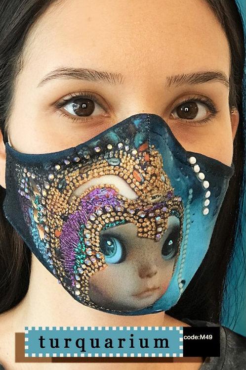 Mask with Print - Turquarium