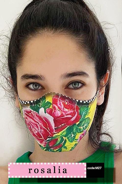 Mask with Print - Rosalia