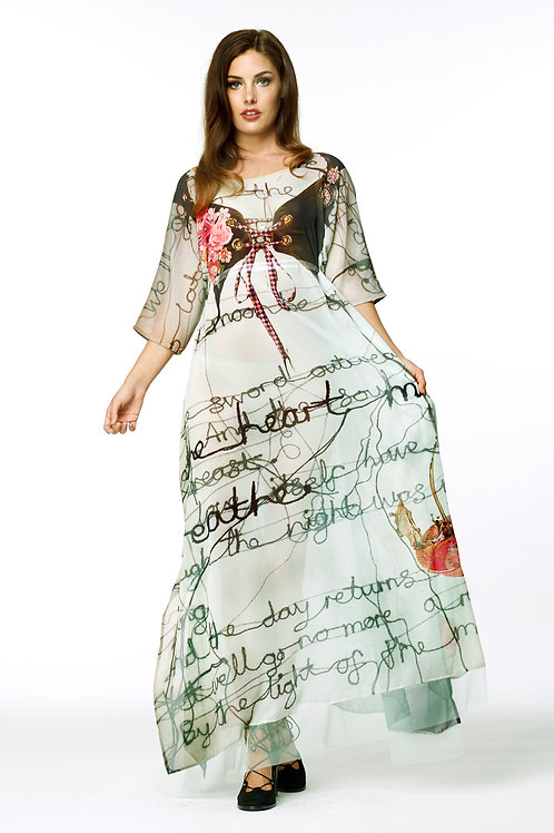 Shawl Dress Long - Tea Time