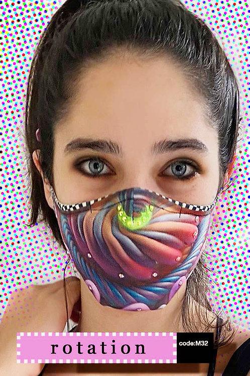 Mask with Print - Rotation