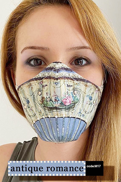 Mask with Print - Antique Romance