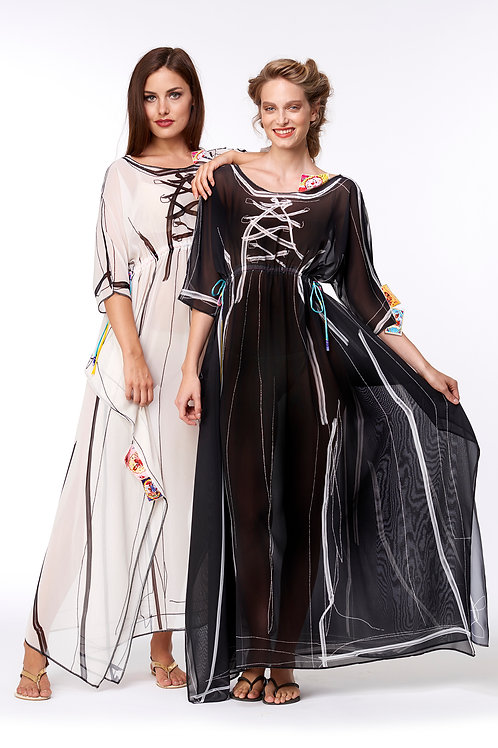 Shawl Dress Long - No Wear Black