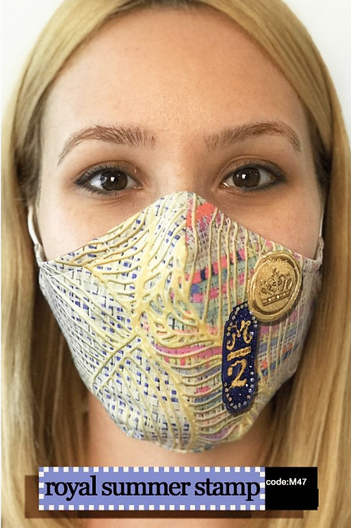 Mask with Print - Royal Summer Stamp