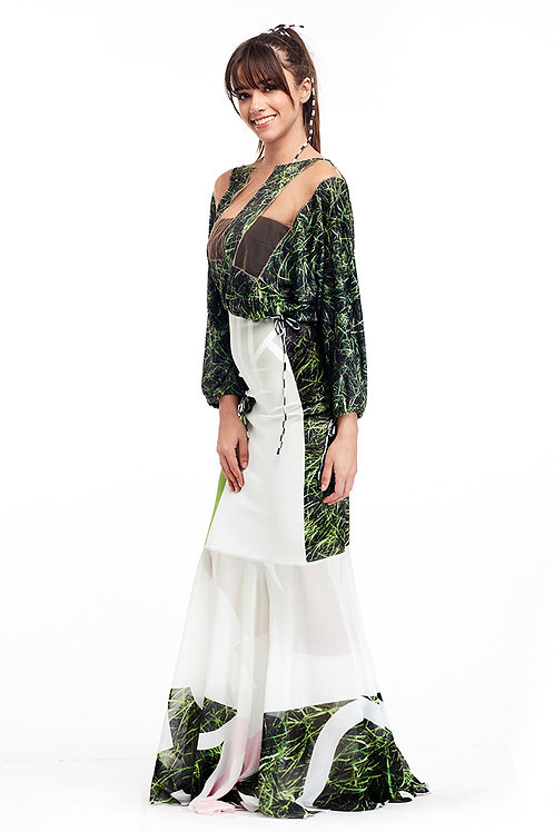 Skirt Long Ruffled - Ever Green