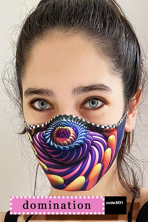 Mask with Print - Domination