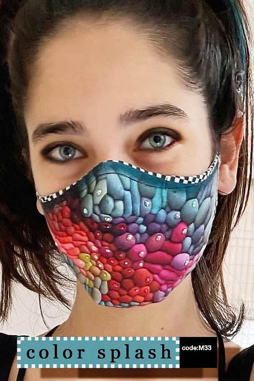 Mask with Print - Color Splash