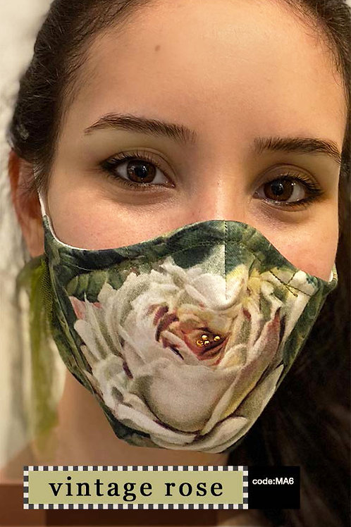 Mask with Accessories - Vintage Rose