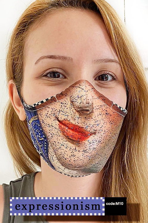 Mask with Print - Expressionism