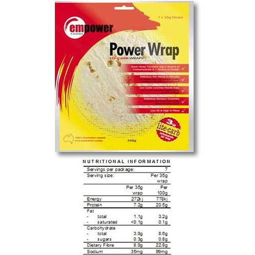 Low Carb Tortilla Wrap 245gm