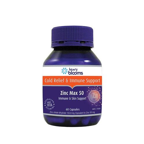 Zinc Max (Citrate 50mg) 60 capsules