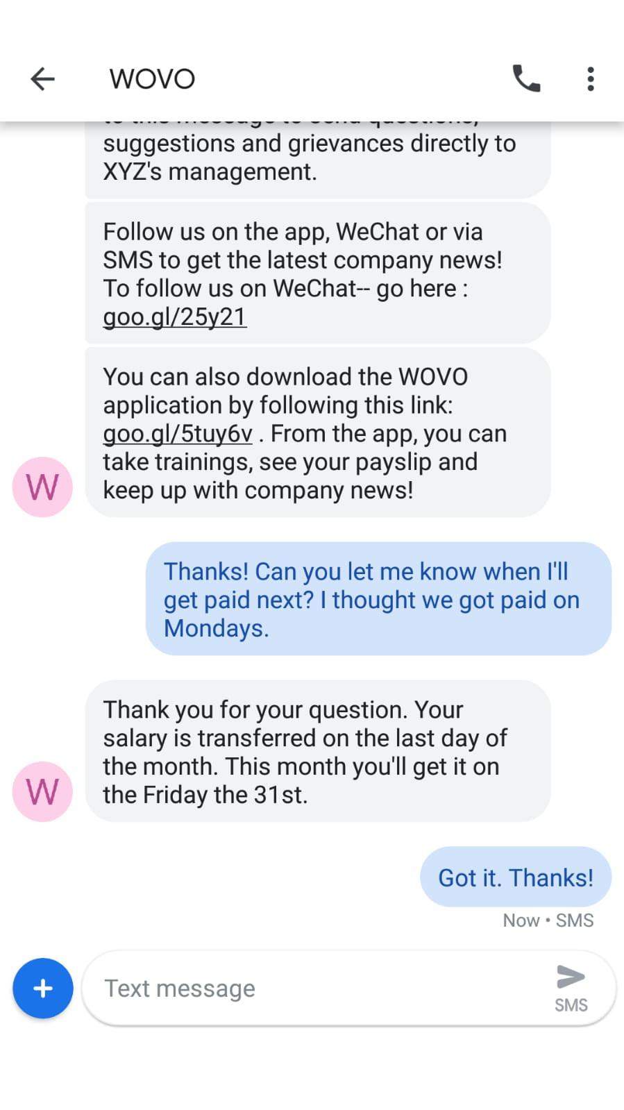 WOVO Chat