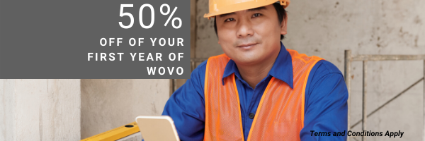 50% off of your first year of WOVO