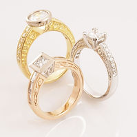 Vintage style engagment rings