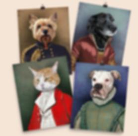 regal pet portait, regal pet, renaissance pet portrait