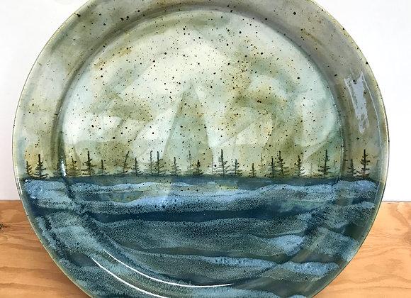 Stormy Landscape Dinner Plate