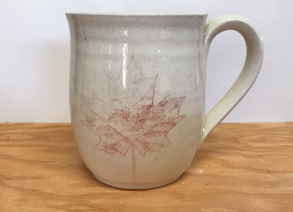 Hand-Printed Maple Leaf Mug
