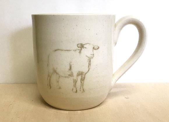 Hand-printed Sheep Mug