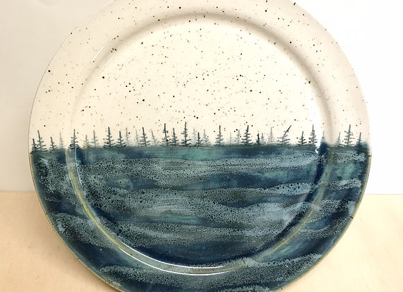 Deep Lake Waves Landscape Dinner Plate