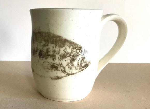 Hand-printed Bass Mug